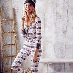 Victoria Secret Thermal Waffle knit PJ set M